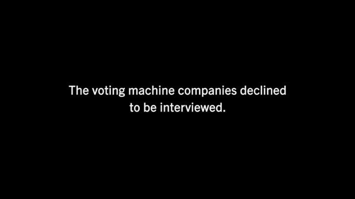 KILL CHAIN - THE VOTING MACHINE COMPANIES DECLINED TO BE INTERVIEWED