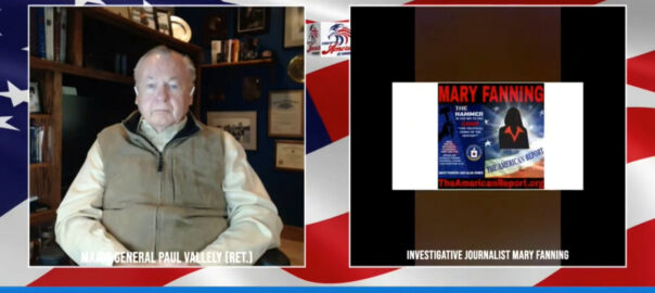 Mary Fanning On The Stand Up America US Show With Major General Paul E. Vallely