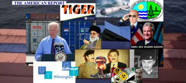 JOE BIDEN - DNREC SECRETARY SHAWN GARVIN - GULFTAINER PORT OF WILMINGTON - THE AMERICAN REPORT