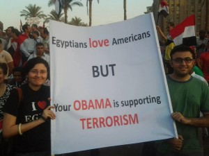 Word on Egypt's Streets is that Obama is a Terrorist